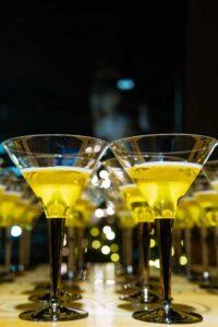 Half empty cocktail glass lot